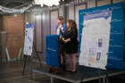 Representatives from three ongoing School of Management initiatives pitched live for the entire $10,000 donation.