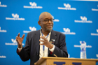 Ted Childs, strategic diversity advisor and former IBM vice president, speaks at the 2019 CLOE conference. Photo: Tom Wolf.
