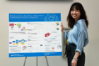 Jiajia Qu received the Poster Presentation Award for her study on accountable care organizations.