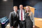 From left, sociology student researcher Daniel Bagnall, MBA student Sydney Taylor and MSW student Erika Vertigan interned at Niagara Lutheran Health System and created a proposal for the region's first palliative comfort care home to serve individuals who don't qualify for hospice or nursing homes.
