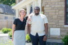 Management and social work students were paired up for internships at local mission-driven organizations. Colleen Kristich and Juwan Thompson worked with the Lt. Col. Matt Urban Human Services Center of WNY. Photo: Onion Studio