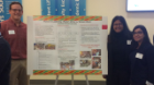 "From left, Best Social Innovation Poster went to Samuel Ignaczak, Farhana Rashid and Hira Kashif for their project, ""Women in Leadership: Western Africa vs. Western World."""