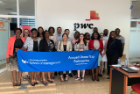 Several accounting students visited PwC Ghana, where they observed the similarities and differences between Big Four accounting in the U.S. and Ghana.