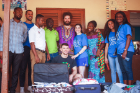 UB students and faculty brought school supplies to gift to students at Bawaleshie Primary School in Accra, Ghana.