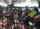 UB students kick off the Disney: Business and Practice program with an icebreaker.