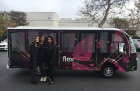 From left, Lauren White, Emily Piscitelli and Nicol Diaz at Flex, an electronics manufacturing services company headquartered in California.