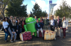 UB students visit Googleplex, the corporate headquarters of Google in Mountain View, California.