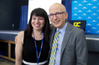 Molly Anderson, executive director of Center for Leadership and Organizational Effectiveness, and Seth Godin