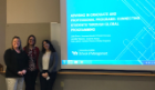 From left, Julia Braun, Jennifer Musone and Kara Lanuti presented on global experiential learning at the Western New York Advising Conference.