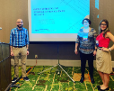 From left, Jason Gilbert, Connie Hanel and Samantha Smith shared their expertise in supporting high-achieving students with regional colleagues at the conference.