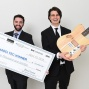 Ryan Jaquin and Shane Nolan celebrate their Panasci competition victory. Read the Startups story in the Autumn 2018 issue of Buffalo Business magazine.
