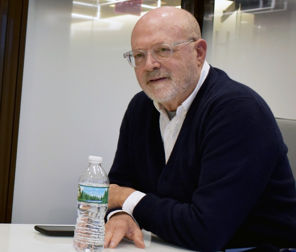 Mickey Drexler, BS '66, spoke to members of the Dean's Advisory Council last fall.