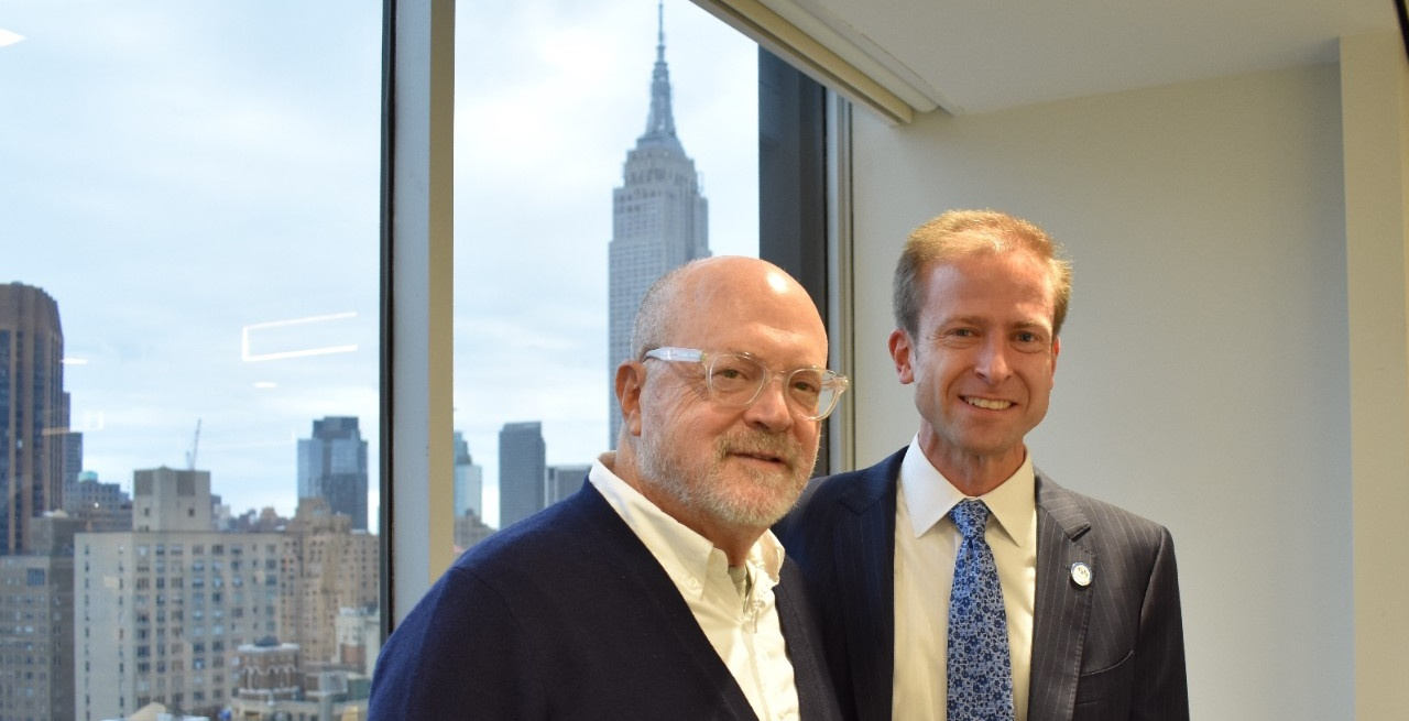 Mickey Drexler with Paul Tesluk, dean of the UB School of Management.