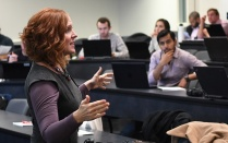 Dianna Cichocki teaching in Alfiero Center. Read Insights in this issue of Buffalo Business magazine.