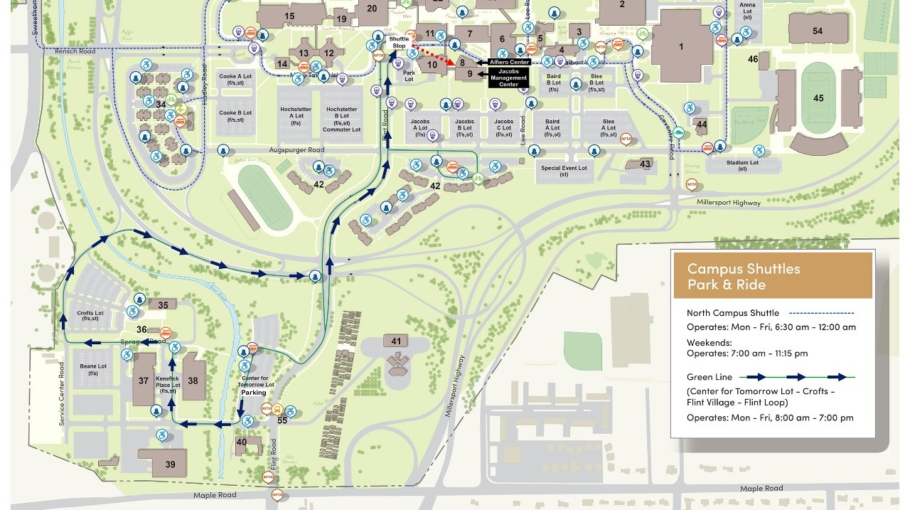 Alternate Visitor Parking School Of Management University At - Ub north campus map