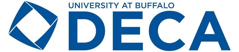 UB DECA Developing leaders of tomorrow logo.