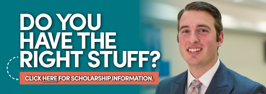Do you have the right stuff? Click here for scholarship information. Link goes to Funding your MBA page.