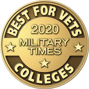 "Military Times logo with text ""Military Times 2018 Best Colleges""."