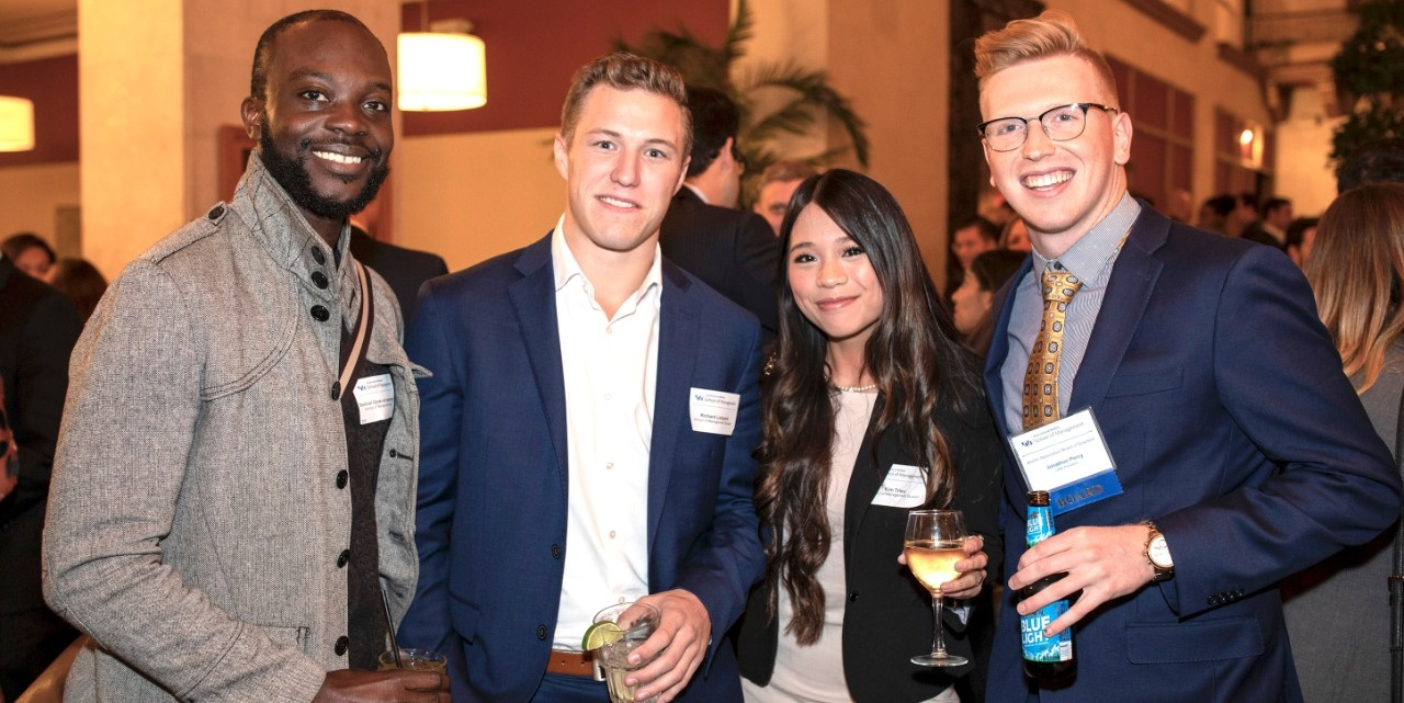 School of Management young alumni at the 2018 Executive of the Year event.
