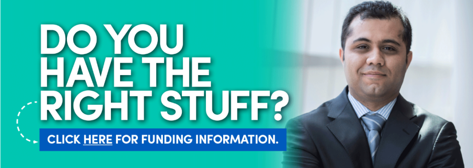 Do you have the right stuff? Click here for funding information. Link goes to Funding you PhD page.