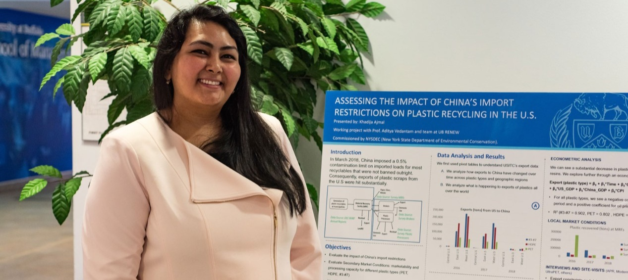 PhD in Management student at the PhD Showcase poster presentation.