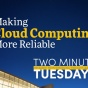 Two Minute Tuesdays YouTube video highlighting School of Management faculty research on cloud computing.