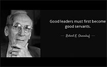 A YouTube video that describes servant leadership.