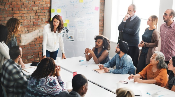New research from the University at Buffalo School of Management finds that when male-dominated work groups foster collaboration and communication, it's women who are more likely to emerge as leaders.