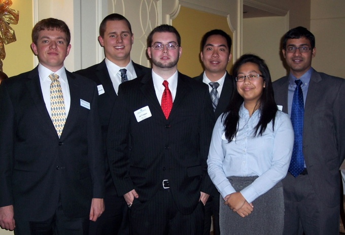 from left: MBA students and ECIDA interns Colin Masterson, Andrew Wescott, Ian Trapper, Hung Duc Phan, Ruth Huoh and Mithra Pamaraju. (Photo: Beth O'Keefe)
