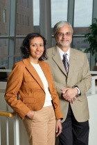 Sanjukta Das Smith, assistant professor, and Ram Ramesh, professor and chair, both in the School of Management's Department of Management Science and Systems