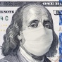 Benjamin Franklin on a $100 bill wearing a coronavirus mask.