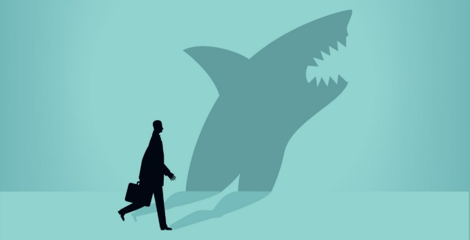 Businessman shark illustration