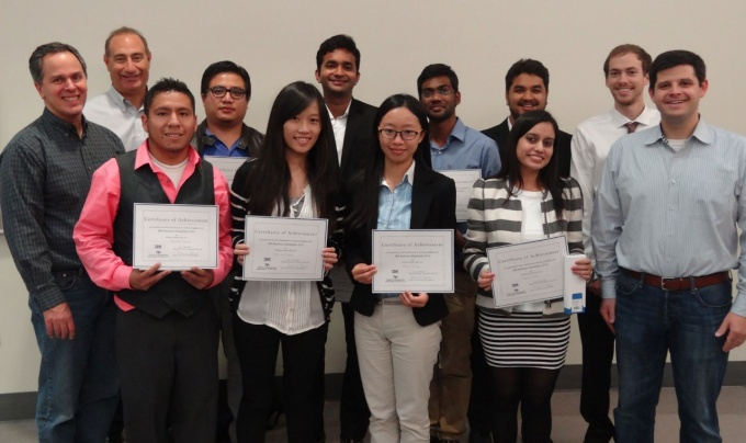 Winners and judges in the 2014 IBM Simulation.
