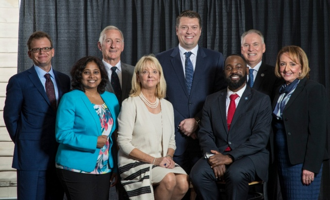 Honorees at the 2017 School of Management Alumni Association Awards Banquet.