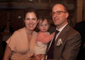 Cianfichi with her husband and daughter