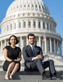 Bagheri and Khanjani at the U.S. Capitol.
