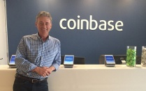 Tim Laehy at the Coinbase offices.