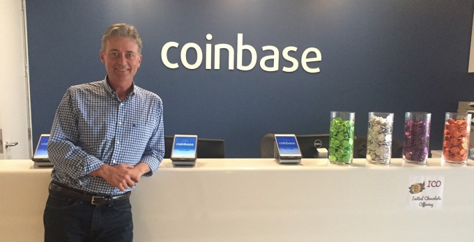 Tim Laehy at the Coinbase offices in San Francisco.