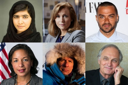 Malala Yousafzai, Susan Rice, Jesse Williams, Alan Alda, Teresa Payton and James Balog.